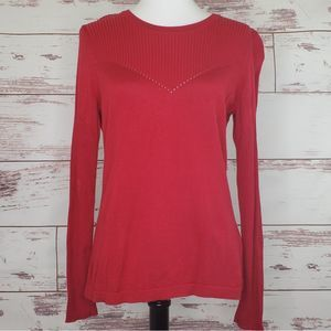 Ribbed thin sweater red Vince Camuto M